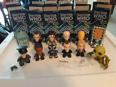 Doctor Who 9th Doctor Lot of 12 The Fantastic Collection Titans Vinyl Figures