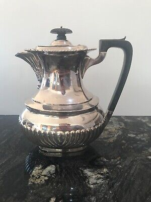 Lovely Vintage English Silver Plated Art Deco Stylish Coffee Pot Hallmarked 1kg