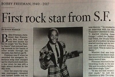 Bobby Freeman 1940 - 2017 First San Fransisco Rockstar Do You Want To Dance