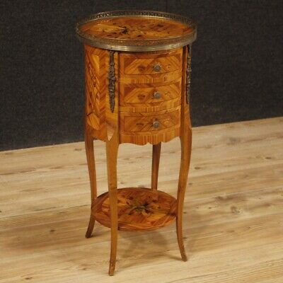 Small Table French Furniture Bedside Living Room Antique Style Wood Inlaid 900