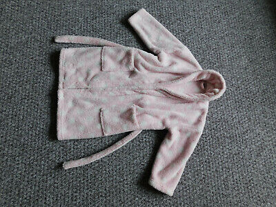 Next Girls Bathrobe Dressing Gown, 5-6 years VGC