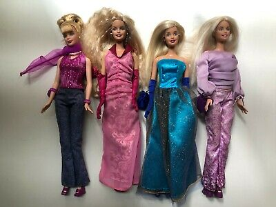 Lot of 4 dressed Barbie dolls in Fashion Avenue circa 2003 great condition