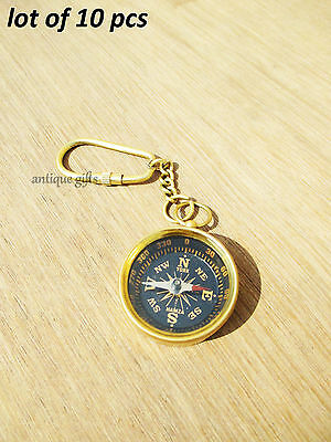 Necklace Style Lot of 50 Shinny Brass Working Compass Antique EDH