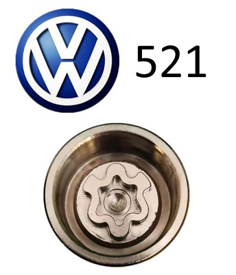 VW New Locking Wheel Nut Key With Letter A521