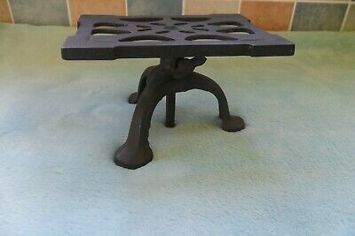Antique Spong Metal Rise And Fall Hearth Stand