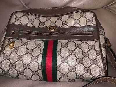 9c77cb81944a6 AUTHENTIC VINTAGE GUCCI Shoulder Bag Purse GG Monogram 1980s - free shipping