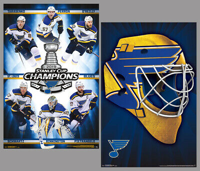 St. Louis Blues 2019 STANLEY CUP CHAMPIONS Official 2-Poster Combo Set POSTERS