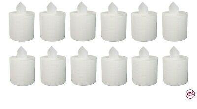 Boardwalk White Perforated Center-Pull Paper Towel Rolls, 12 Rolls (BWK6400)
