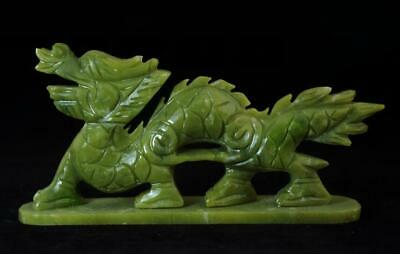 chinese old hand-made south natural jade chinese zodiac dragon statue