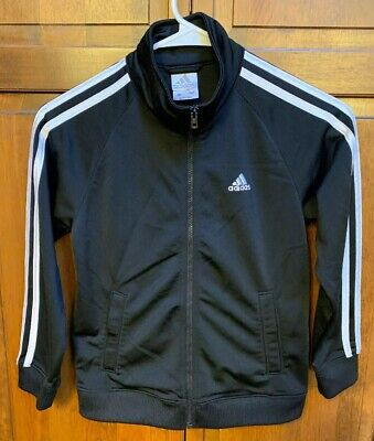 Adidas Youth Boys 7 Full Zip Training Track Jacket Black 3 Stripes