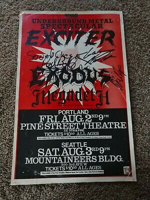 Signed Underground Metal Spectacular Band Flyer From 1985