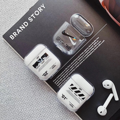 "2019 New Off-White Hype Luxury Inspired AirPods Case for 1 2 Headest nike ""85"""