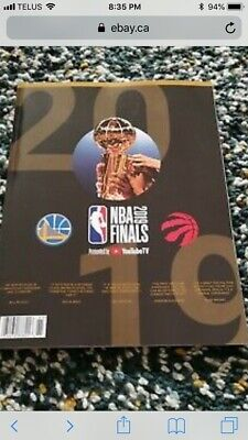 NBA Finals 2019 Official Program Golden State Warriors v Toronto Raptors