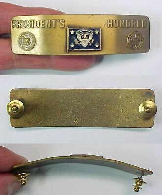 Presidents Hundred Brassard Pin Shooting Camp Perry Ohio National Matches