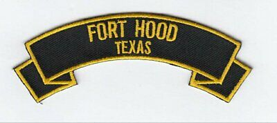 """Fort Hood 4"""" rocker tab embroidered patch"""