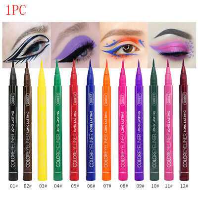 Matte Eyeliner Waterproof Liquid Long Lasting Eye Liner Pen Party Eye 12 colors-