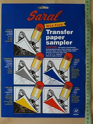 "Saral Wax Free Transfer Paper Sampler - 5 colours - 8-1/2"" x 11"""
