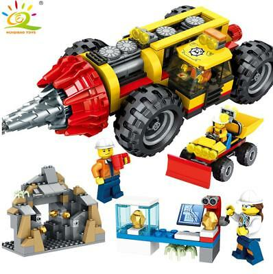 Mine Driller Engineering Truck Building Blocks with Action Figures Toys Bricks