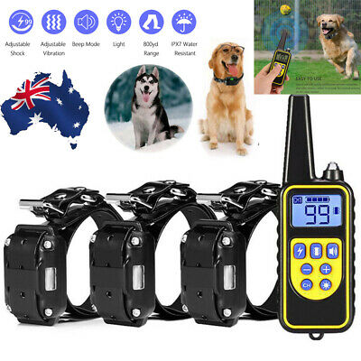 800M Remote For 3 Dogs Anti Bark Dog Training Collar Stop Barking Rechargeable A