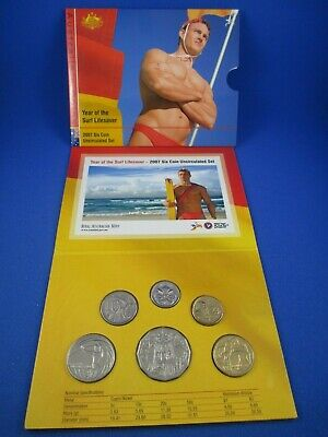 6 Coin Mint Set UNC Year of the Lifesaver 2007 RAM Uncirculated
