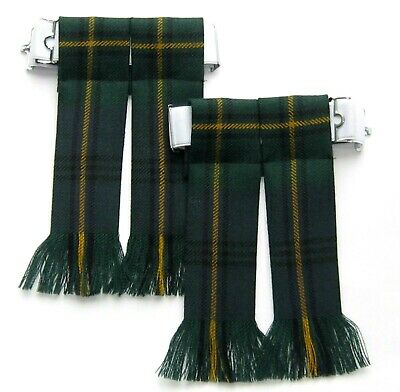 df3d7eec4 Kilt Flashes Tartan Johnston Modern Worsted Wool Hose Sock Fringed Kiltwear  New