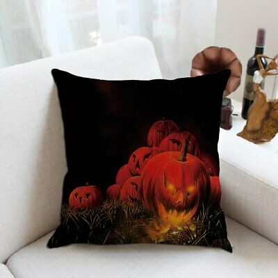 Halloween Pillowcase Weeds Withered Tree Pumpkin Witch Bat Full Moon Darkness@V