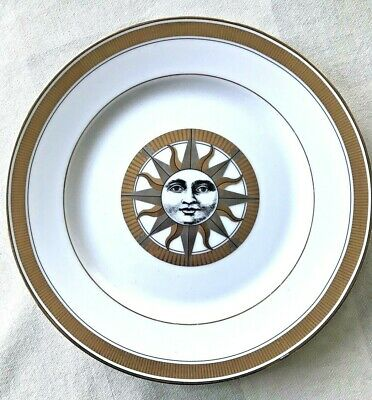 """Fitz and Floyd American Settings 8 3/8"""" Salad Plate Golden Soleil Sun Face MINT"""