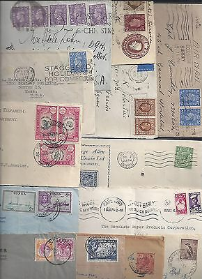 UK GB BRITISH COMMONWEALTH 1920's 1930's COLLECTION OF 16 COMMERCIAL COVERS INCL
