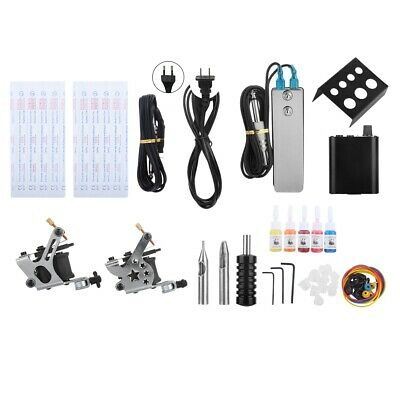 Pro Tattoo Kit Tattoo Liner Shader Machine Guns Needles Power Supply Body Art