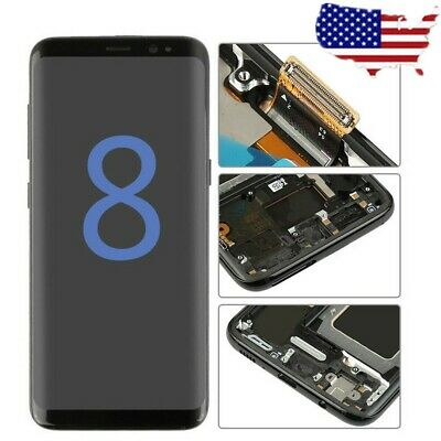 Replacement For Samsung Galaxy S8 G950 Display LCD Touch Screen Digitizer Frame