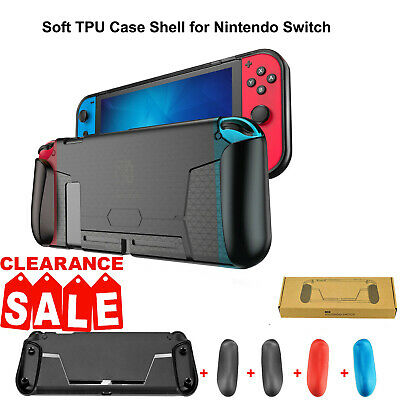 4 Shock-Absorption Ergonomic Grip For Nintendo Switch Soft Protective Case Cover