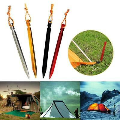 10 Pc/bag 18cm Aluminum Alloy Outdoor Camping Trip Tent Peg Ground Nail Stakes