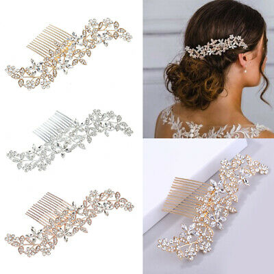 Wedding Rhinestone Hair Pins Clip Barrette Comb Bridal Diamante Crystal Headwear