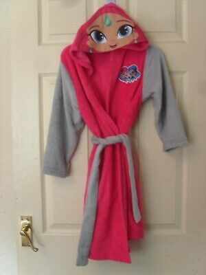 Girls Pink Shimmer & Shine Soft Fleecy Dressing Gown Robe Age 4 5 6? Years Bnwot