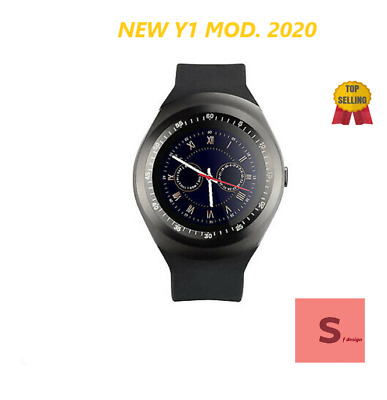 Smartwatch Orologio Telefono Android Ios Iphon Sim Bluetooth Smart Watch Y1 Nero