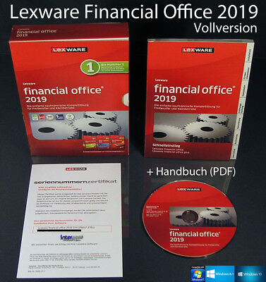 Lexware Financial Office 2019 Vollversion Box + CD, Handbuch (PDF) , Updates NEU