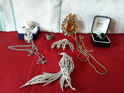 Job lot Mixed Silver Jewellery Some 925 marking six pieces very good condition