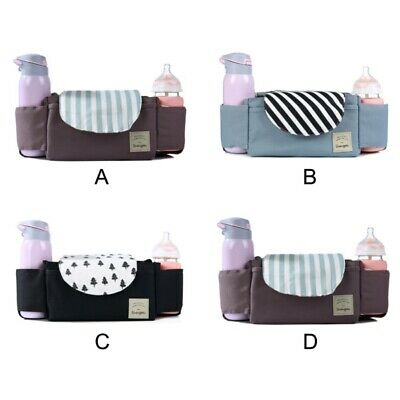 Portable Baby Trolley Storage Bag Stroller Bottle Cup Carriage Pram Buggy Pouch