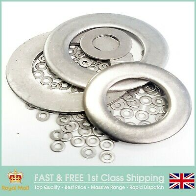 Flat Washers Form A For Metric Bolts & Screws A2 Stainless Steel (SS304)