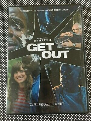 GET OUT DVD Authentic US Widescreen Release Daniel Kaluuya Allison Williams NEW