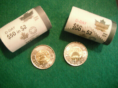 2019 D day 75th anniversary toonies both colored and non colored