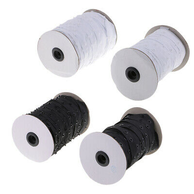 2 Pairs 50 Yards Snap Popper Tape Invisible Fasten RibbonDuvet Pillow Cover