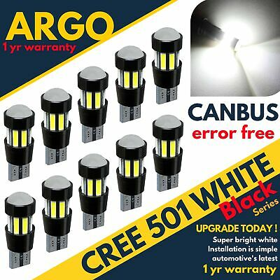 501 Car Bulbs Led Error Free Canbus Xenon White W5W T10 Side Light Bulb Cree 12V