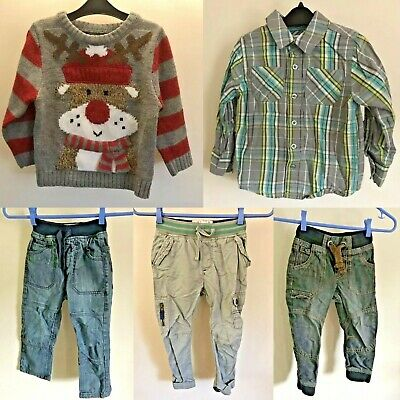 Bundle Of Boys Denim Jeans Age 2-4 Years Old (Little Rocha, Next, TU, F&F) 7 Pcs