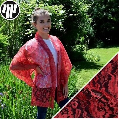 Summer Haori Woman's Kimono Jacket Vintage Japanese Cover Up - Hot Pink Lace