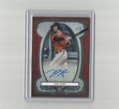 Joey Bart 2019 Bowman Sterling Continuity Red Refractor #3/5 Auto/Autograph