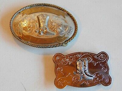 Vintage Alpaca Mexico Silver Belt Buckle & Made in Japan Buckle-Boots & Spurs