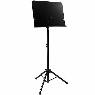Tiger Orchestral Sheet Music Stand with Solid Desk - New & Improved Model