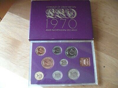 Coinage of Great Britain and N Ireland 1970 Proof set