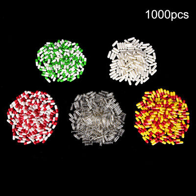 1000Pcs Multicolor Empty Gelatin Capsules  Pill Vcaps Gel Halal Separated Box TS
